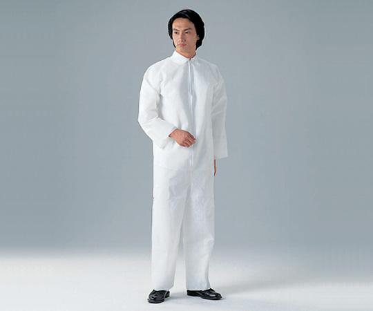 アズワン(AS ONE) ディスポ保護衣(つなぎ服) LL 50枚入(8-4054-13)
