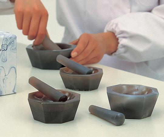 アズワン(AS ONE) メノー乳鉢 浅型 150×180×50  乳棒付き(6-546-20)
