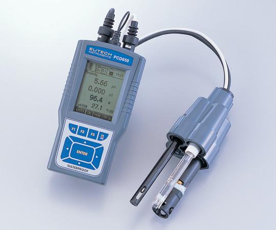 アズワン(AS ONE) ラコムテスターハンディタイプpH計&導電率計 PCD650セット(2-8077-02)
