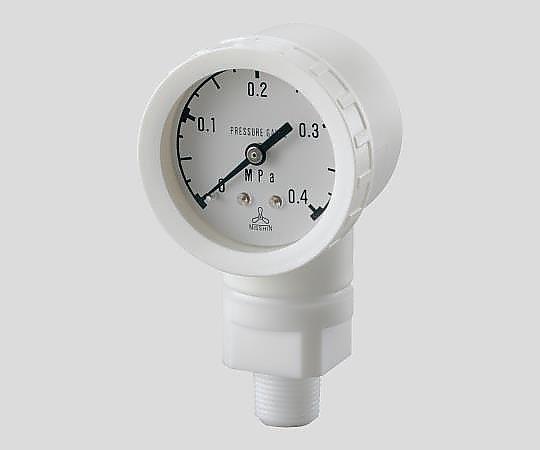 アズワン(AS ONE) 高耐蝕用圧力計DL-B1-TA-0.4M(2-353-02)