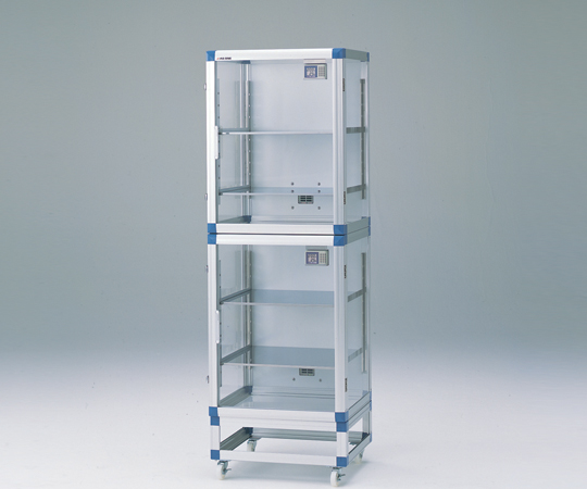 アズワン(AS ONE) IDデシケーター 574×517×1765mm 強化プラスチック棚版(1-4693-11) 【運賃別途】