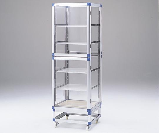 アズワン(AS ONE) スタンダードデシケーター両面タイプ 強化プラスチック棚 574×546×1765mm(1-5819-11) 【運賃別途】