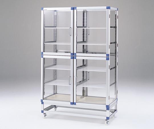 アズワン(AS ONE) スタンダードデシケーター両面タイプ 強化プラスチック棚 1152×546×1765mm(1-5819-22) 【運賃別途】