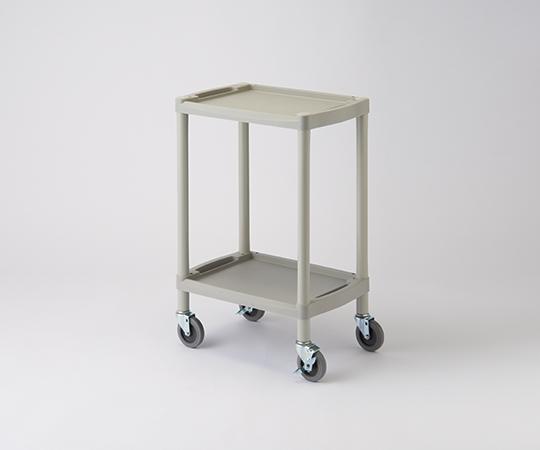 アズワン(AS ONE) プラスチックワゴン 560×385×820 棚2段(1-8544-11)