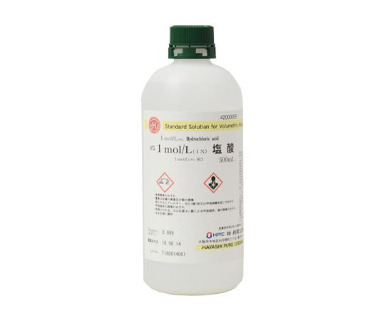 アズワン サンクアスト 人気 正規店 アズピュア アクセル AS ONE 1mol 塩酸 VS 500mL 1N 2-3128-02 L