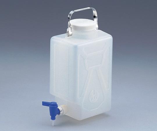アズワン(AS ONE) ナルゲン活栓付角型瓶 2321 2ガロン/9L(5-056-01)