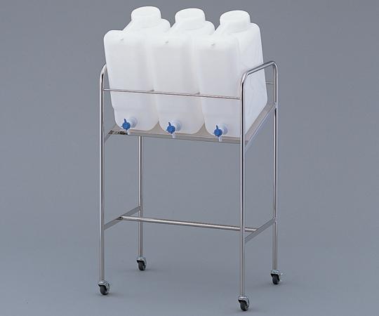アズワン(AS ONE) ヘンペイ活栓付瓶用傾斜スタンド 搭載ボトル:20L×3個(2-7826-14)
