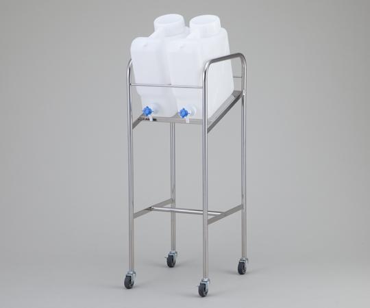 アズワン(AS ONE) ヘンペイ活栓付瓶用傾斜スタンド 搭載ボトル:10L×2個(2-7826-11)