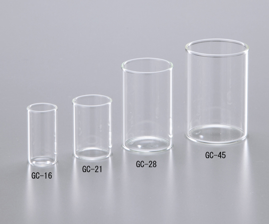 アズワン(AS ONE) ガラスカップ GC-28 φ25.4mm 100本入(1-8417-05)