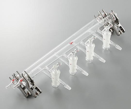 アズワン(AS ONE) ガス置換真空マニフォールド フランジ接続タイプ(3-6168-02)