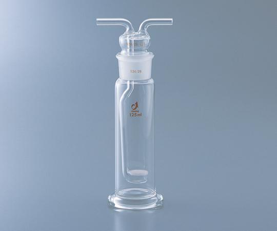 アズワン(AS ONE) ガス洗浄瓶(板フィルター付き) 125mL(1-4374-01)