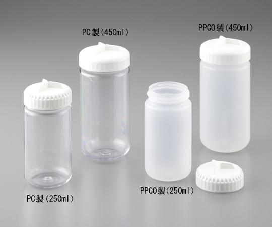 アズワン(AS ONE) 遠心瓶(シーリングキャップ付き) PPCO製 250mL 4本入(1-5589-01)