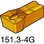 サンドビック TMax Qカット 突切り・溝入れチップ H13A N151.3500504G(OP:H13A)/10個【2069661】