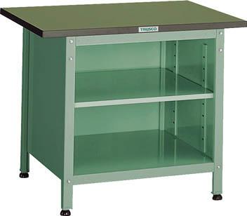 TRUSCO OW型小型作業台 棚板付 900X600XH740 OW9060B/1台【2424207】 【個人宅配送不可】