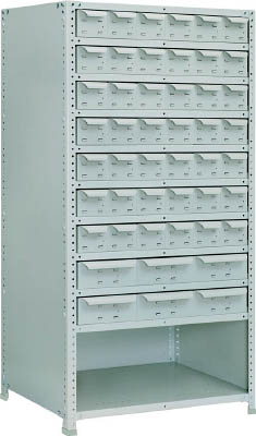 TRUSCO 軽量150型背引出付棚 900X450XH1800 実段10 TLA63S711/1台【2833425】