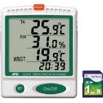 A&D デジタル温湿度SDデーターロガー AD5696/1個【3761231】