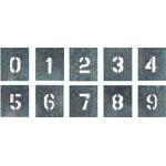 つくし 吹付プレート 数字(0~9) 10枚組 中サイズ J91B/1組(10枚入)【4215311】