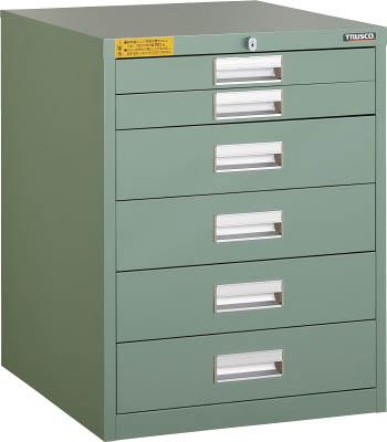 TRUSCO LVE型キャビネット 500X550XH650 引出6段 LVE658/1台【2524007】