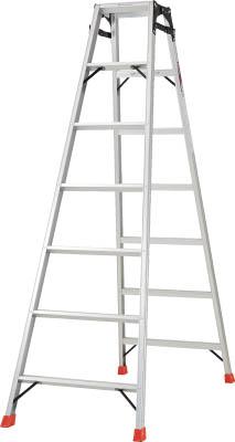 TRUSCO はしご兼用脚立 アルミ合金製・脚カバー付 高さ1.98m THK210/1台【5123704】