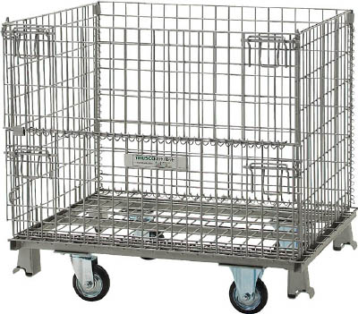 TRUSCO ネットパレット車輪付 1000X800X575 500kg用 TNP6NS/1台【4624149】