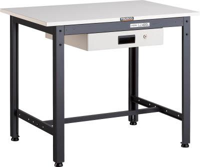 TRUSCO LEWP型作業台 900X600XH740 薄型1段引出付 LEWP0960UDK1/1台【4670779】 【個人宅配送不可】