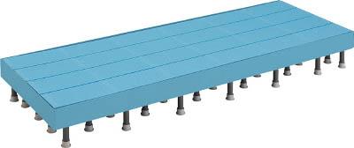 TRUSCO 樹脂ステップ高さ調節式側板付600X1800 H200220 DS6018HG/1組【4163613】