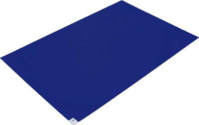 TRUSCO 粘着クリーンマット ブルー 10シート入 CM609010B/1箱(10枚入)【4198662】