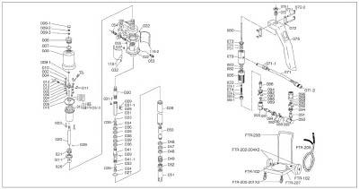 TRUSCO FTR65G用 シリンダー FTR008/1個【4147910】