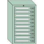 OS 軽量キャビネット5型 最大積載量500kg 引出し10段 51001/1台【4571029】