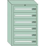 OS 重量キャビネットDX型 最大積載量1500kg 引出し6段 DX1203/1台【4571843】
