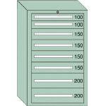 OS 重量キャビネットDX型 最大積載量1500kg 引出し2×4×2段 DX1205/1台【4571878】