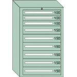 OS 重量キャビネットDX型 最大積載量1500kg 引出し3×6段 DX1207/1台【4571894】