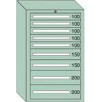 OS 重量キャビネットDX型 最大積載量1500kg 引出し5×2×2段 DX1211/1台【4571932】