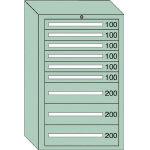 OS 重量キャビネットDX型 最大積載量1500kg 引出し6×3段 DX1213/1台【4571959】
