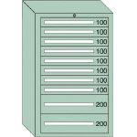 OS 重量キャビネットDX型 最大積載量1500kg 引出し8×2段 DX1215/1台【4571975】