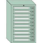 OS 中量キャビネット7型 最大積載量1000kg 引出し10段 71001/1台【4571363】