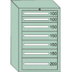 OS 中量キャビネット7型 最大積載量1000kg 引出し2×4×1段 71006/1台【4571380】