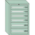 OS 中量キャビネット7型 最大積載量1000kg 引出し4×2段 71014/1台【4571444】
