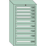 OS 中量キャビネット7型 最大積載量1200kg 引出し4×4×1段 71210/1台【4571509】