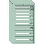 OS 中量キャビネット7型 最大積載量1200kg 引出し5×2×2段 71211/1台【4571517】