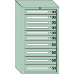 OS 中量キャビネット7型 最大積載量1200kg 引出し6×4段 71212/1台【4571525】