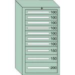 OS 中量キャビネット7型 最大積載量1200kg 引出し7×2×1段 71214/1台【4571541】
