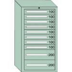 OS 中量キャビネット7型 最大積載量1200kg 引出し8×2段 71215/1台【4571550】