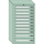 OS 中量キャビネット7型 最大積載量1200kg 引出し9×2段 71216/1台【4571568】