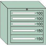 OS 中量キャビネット7型 最大積載量600kg 引出し3×2段 7606/1台【4571606】