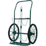 KS ボンベ運搬車(大車輪型)酸素7000L容器、アセチレン7.0kg容器用 KUO/1台【4527933】【運賃別途】