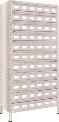 TRUSCO 軽量棚 875X450XH1800 スチール引出 小X66 63X812A11(OP:NG)/1S【5103444】