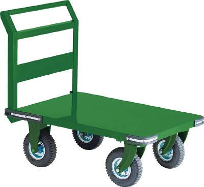 TRUSCO 鋼鉄製運搬車 900X600 Φ223空気入タイヤ 鋳物金具 OH2AR/1台【2391562】