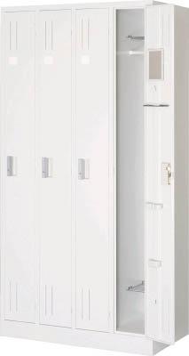 【超特価sale開催】 TRUSCO スタンダードロッカー 4人用 900X515XH1790 W色 WL47/1台【4540964】【運賃別途】, ライフ&ビューティ 640d89c1