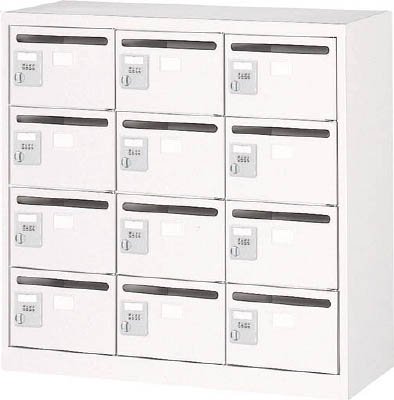 TRUSCO メールボックス 12人用 手ぶらキー 900X380XH880 ホ WMVK12P/1台【4540999】【運賃別途】